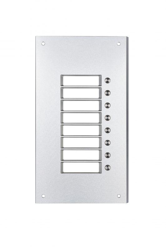 2N Helios Antivandal - maska extendru 8x1 tlačítko +zápustná krabice pro 1 modul